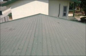 Flat roof rubber membrane